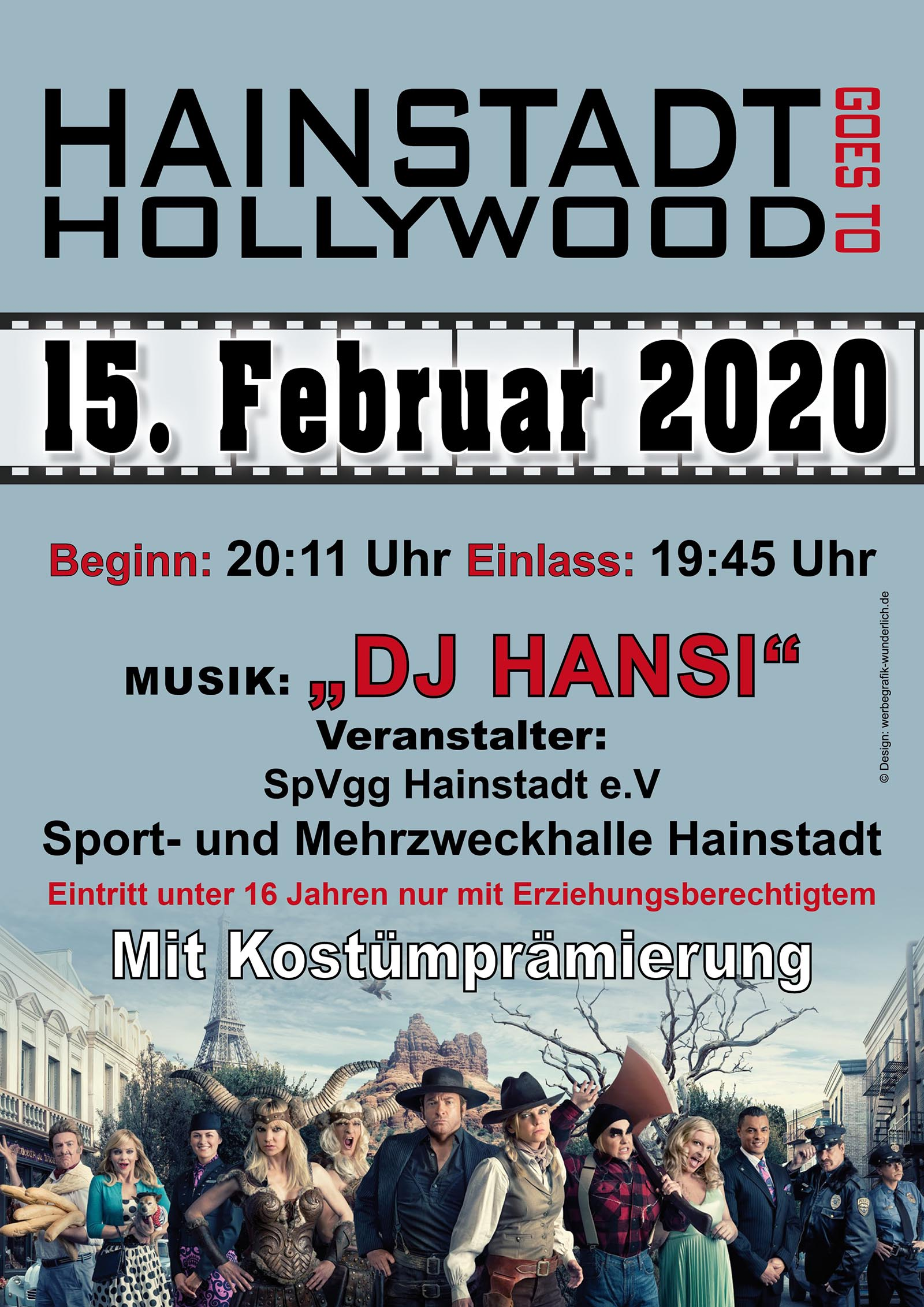 Plakat Hollywoodball 2020
